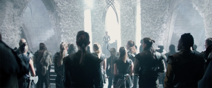 Freya addresses the Huntsmen