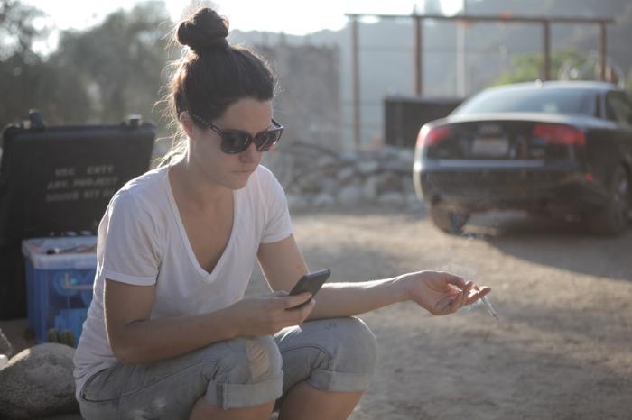 Amanda Milius on set
