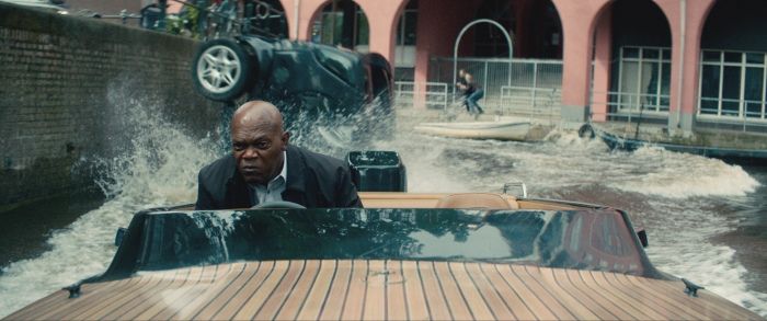 DARIUS KINCAID (Samuel L. Jackson)  in THE HITMAN'S BODYGUARD.